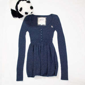 Dark blue long sleeve Abercrombie shirt